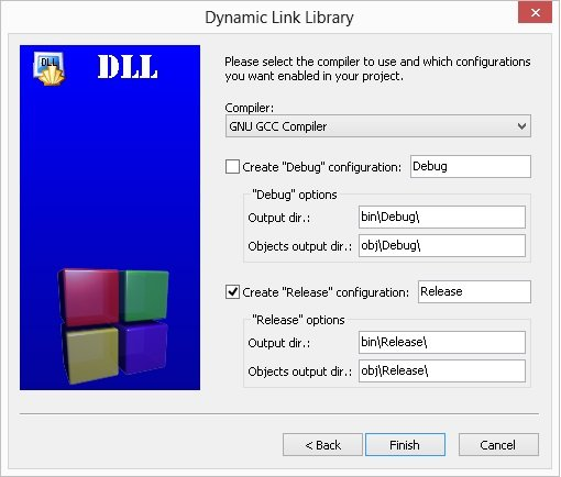 Tutorial: Create a Sample DLL Project using CodeBlocks IDE