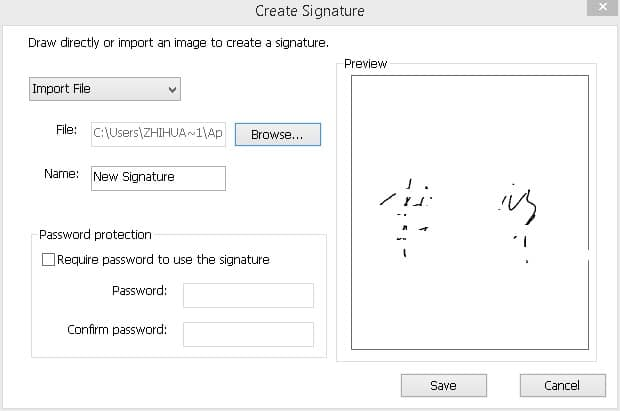 how to insert a signature in pdf