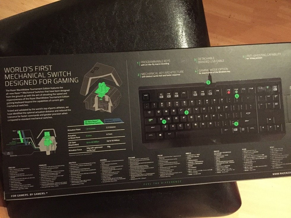 Keyboard Review: Razer BlackWidow Mechanical 87 Keys Razer