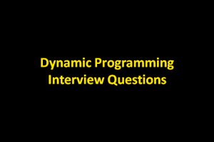 dynamic-programming-interview-questions