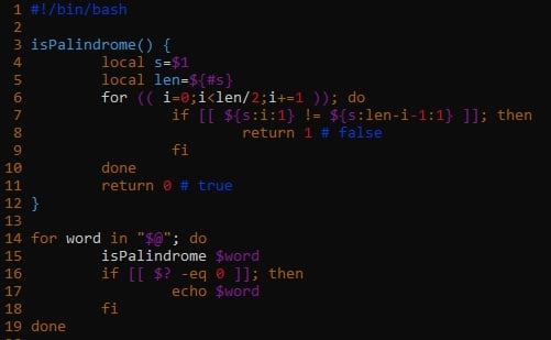Bash Function To Check Palindrome Strings Technology Of Computing