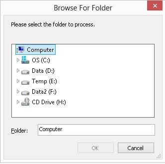 VBScript Browse for Folder using Shell Application Object